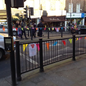 So this is why we need the railings - to hang the bunting